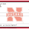 Nebraska Cornhusker Personal Bank Checks on Sale