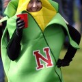 Boston Woman wearing Corn Costume to Nebraska vs Michigan Game
