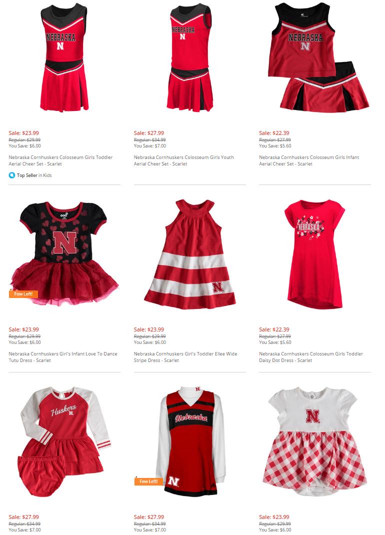 Husker Cheerleader Costumes