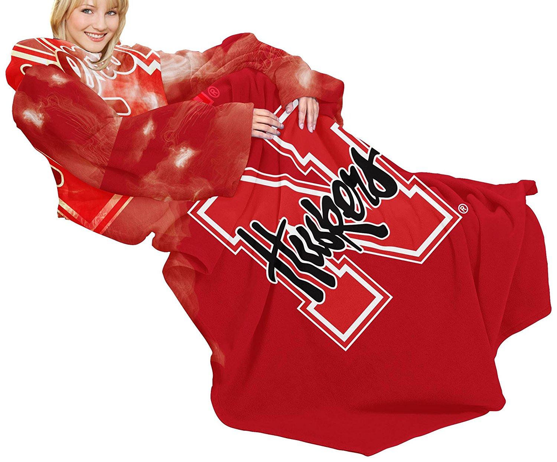 Nebraska Cornhuskers Collegiate Snuggies Blanket with Sleeves