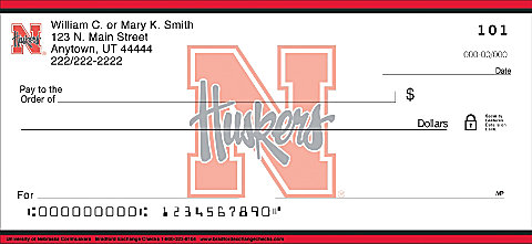 New Nebraska Cornhusker Personal Checks