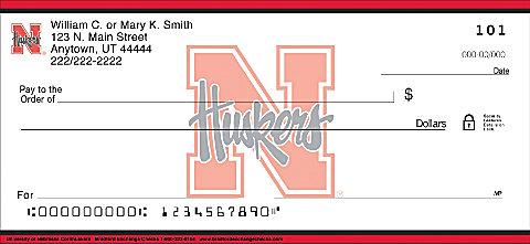 New Nebraska Cornhusker Personal Checks