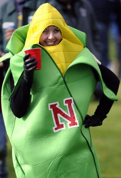 Woman wearing Corn Costume
