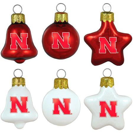 Topperscot NCAA Nebraska Cornhuskers Ornament Set, Set of 6