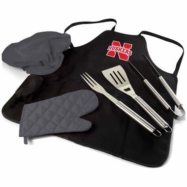 Nebraska BBQ Apron Tote Pro (Black)