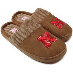 Nebraska Cornhuskers Chestnut Scuff Slippers