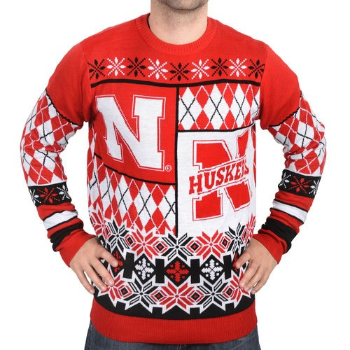 Nebraska Cornhuskers Klew Thematic Ugly Sweater - Red